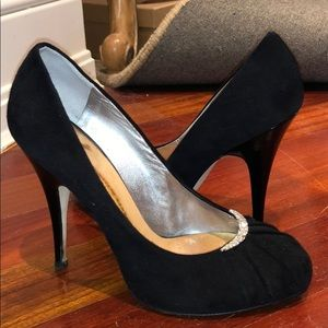 Giuseppe Zanotti Suede and Crystal Pumps